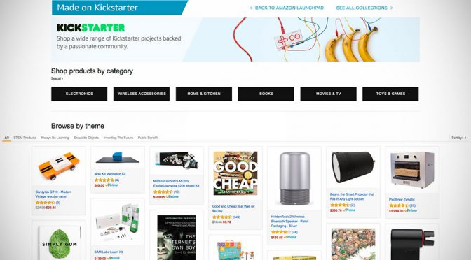 Amazon Launchpad Now Has A Page Dedicated To Kickstarter Products