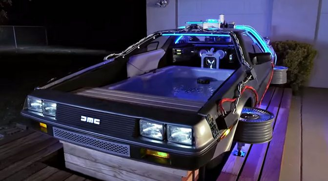 DeLorean Time Machine Turned Into A Hot Tub Is Insanely Awesome