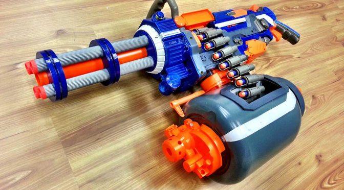 Guy Reimagined NERF Vulcan Into A Fast Foam Dart-spitting Gatling Gun