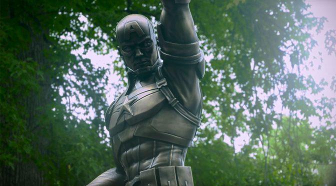<em>Captain America</em> Bronze Statue Blurs The Line Between Fiction And Reality
