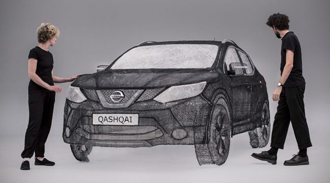 3D Pen Sculpture Of Full-sized Nissan Qashqai Is Pretty Damn Surreal