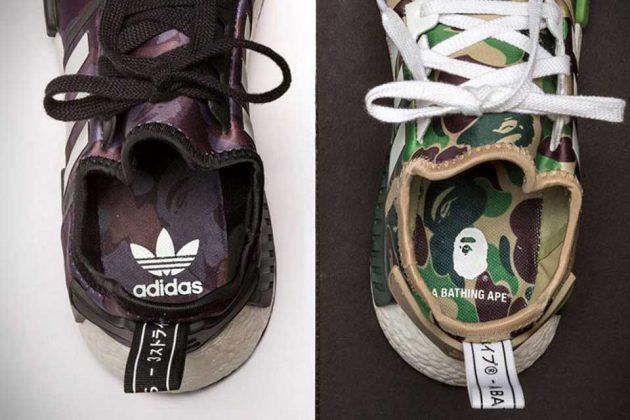 BAPE x Adidas Originals NMD-R1 Sneakers