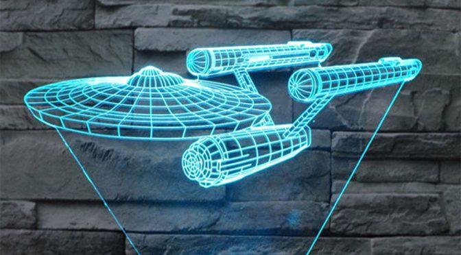 <em>Star Trek</em> Enterprise 3D Deco Lamp Puts Realistic 'Hologram' In Your Home