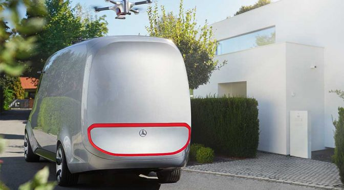 Mercedes benz 39 s future delivery vans will have drones to for Mercedes benz warehouse jobs