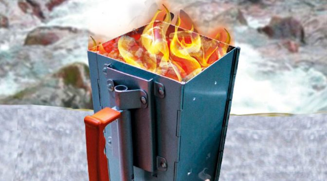 CampMaid Charcoal Chimney Heats Up Super Quick And It Is Super Portable