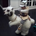 Dad Made Junior An Adorable <em>Star Wars</em> Luke-on-Tauntaun Costume