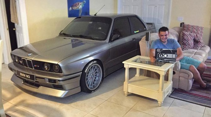 Man Parks E30 BMW M3 In The Living To Escape Hurricane Matthew