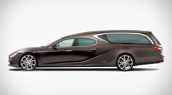 Custom Hearse Based On Maserati Ghibli Lets The Dead Depart In Style