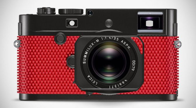 Rolf Sachs Puts Red Ping Pong Rubber On Leica Camera For Grip