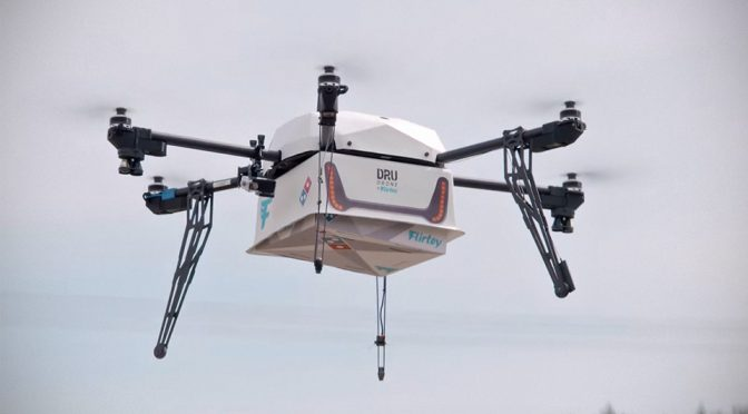 Domino's Pizza DRU Drone Made First Pizza Delivery In New Zealand