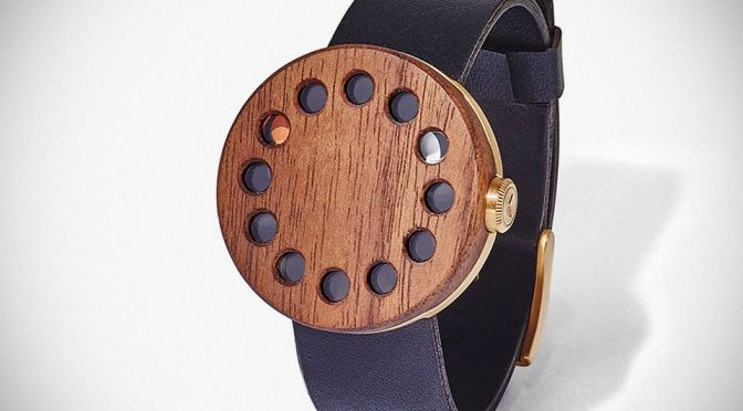 Grove's Timepiece Brings Nature And Luxury Together With Wood And Gold