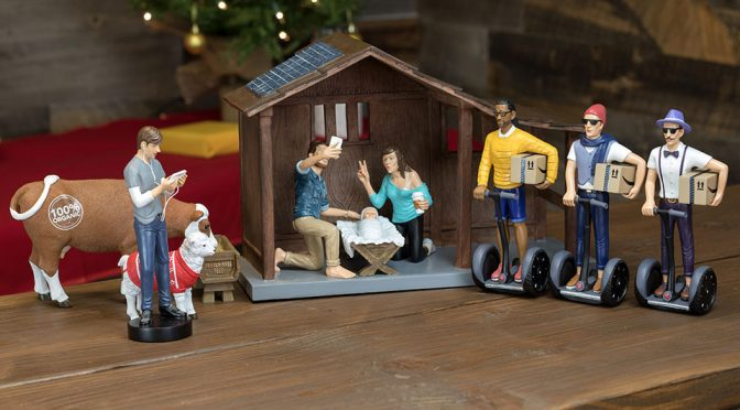 Nativity Scene In Modern Context Features Hipsters, Segways And Welfie