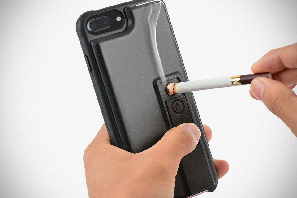 this iphone 7 case with built in lighter is literally the hottest iphone case mikeshouts. Black Bedroom Furniture Sets. Home Design Ideas