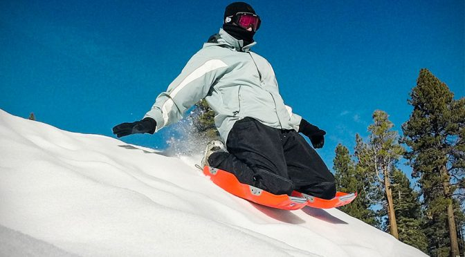 Leg-worn Sleds Let You Sled Anytime Without Carrying A Sled