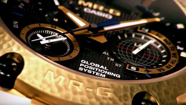 G-SHOCK MR-G Gold Hammer Tone Hybrid GPS Watch