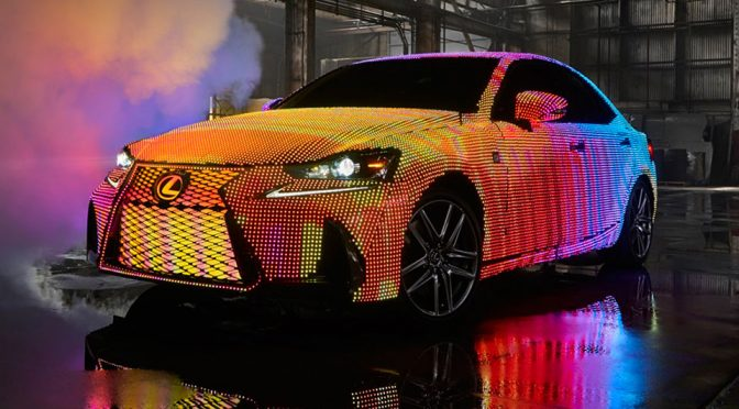 Lexus LED-Covered LIT IS Luxury Sedan Is More Like A Moving Disco/Billboard