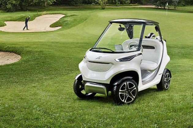 Mercedes benz and garia wants to make golf cart look more for How much is the mercedes benz golf cart