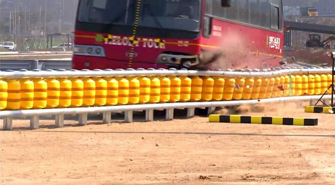 Brilliant Shock Absorbing Road Barrier Aims To Reduce Road Fatality