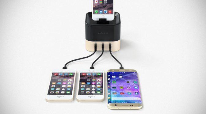 Satechi Smart Charging Stand Charges Three Phones And A Smartwatch