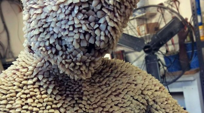 Artificial Human Teeth-covered Suit Is Truly A Stuff Of Nightmares