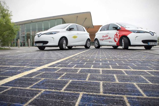 Wattway Photovoltaic Road Surface in Tourouvre-au-Perche