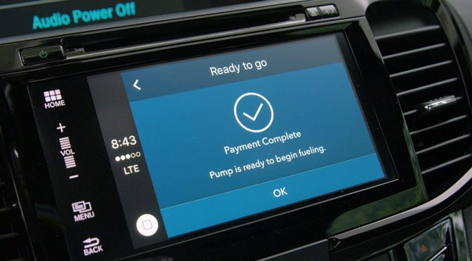 Honda And Visa Demo In-Vehicle Payments For Parking And Gas