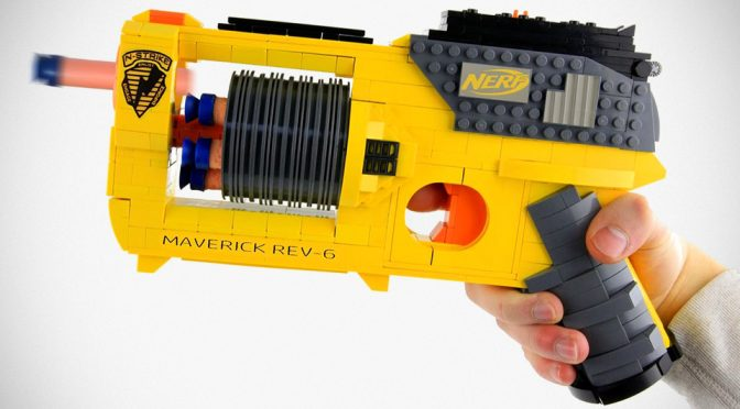 Functional NERF Blaster Made Out Of LEGO Is Absolutely Awesome