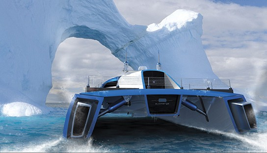 Alex Marzo Submerge concept catamaran - Antartica 544px