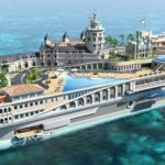a luxury superyacht that resembles the Streets of Monaco