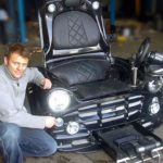 classic Mini Cooper turned into an ultimate gaming chair