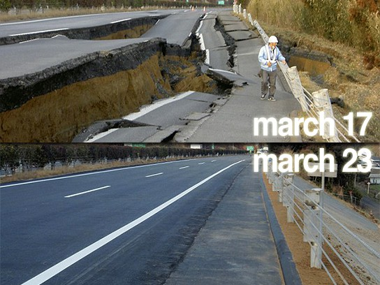 Japanese repair highway in six days 544x408px