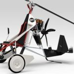 this gyrocopter is inspired by sports cars and motorcycles