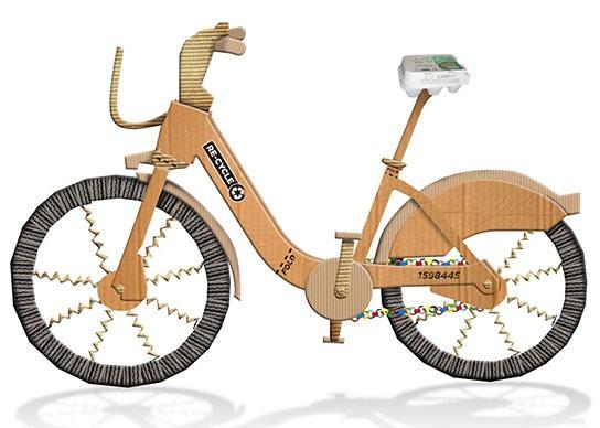 Re-Cycle Cardboard Bike 544x388px