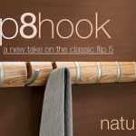 Umbra Flip 8 Hook – flip down the hooks when needed