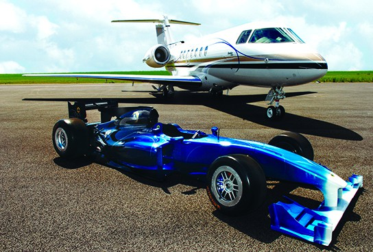 Hawker Beechcraft and Group Lotus 544x368px