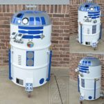 can't get enough of R2-D2? how about a R2 BBQ smoker?