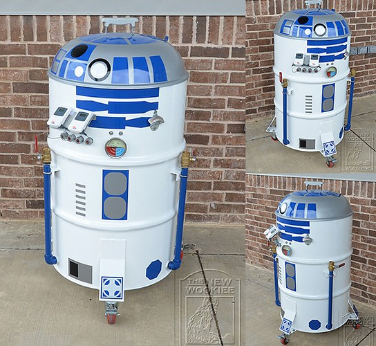 R2-D2 BBQ Smoker 544x500px