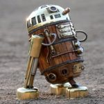 this steampunk R2-D2 is created from recycled materials