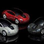 Goldgenie Swarovski crystals encrusted wireless mouse