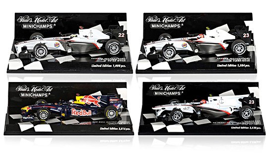 1:43 Scale Formula One Race Cars - Limited Edition 544x328px