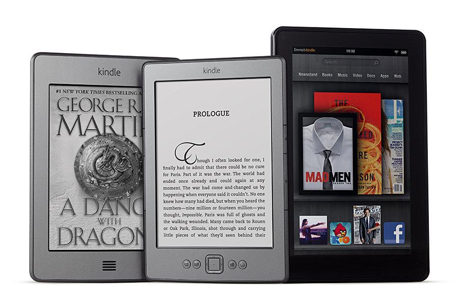Kindle Family - Kindle, Kindle Touch, Kindle Fire 900x600px