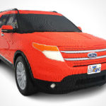 this Ford Explorer is made from 380000 LEGO bricks