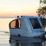 Sealander is an amphibious camping trailer