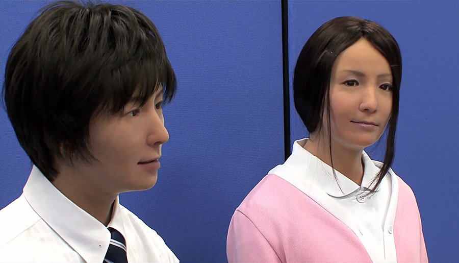 Actroid-F realistic female humanoid now has a brother 900x515px