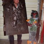 halloween costume idea: Han Solo in Carbonite Costume