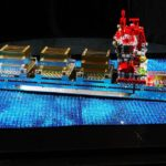 LEGO cargo ship encrusted with Swarovski Crystals