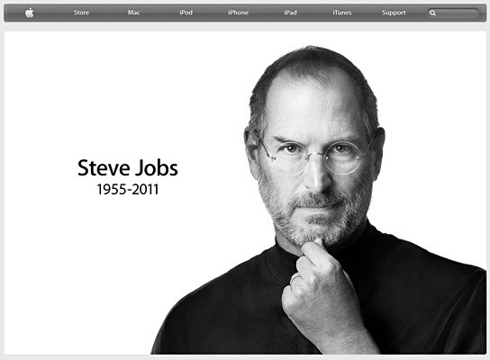Steve Jobs 1955-2011 544x400px