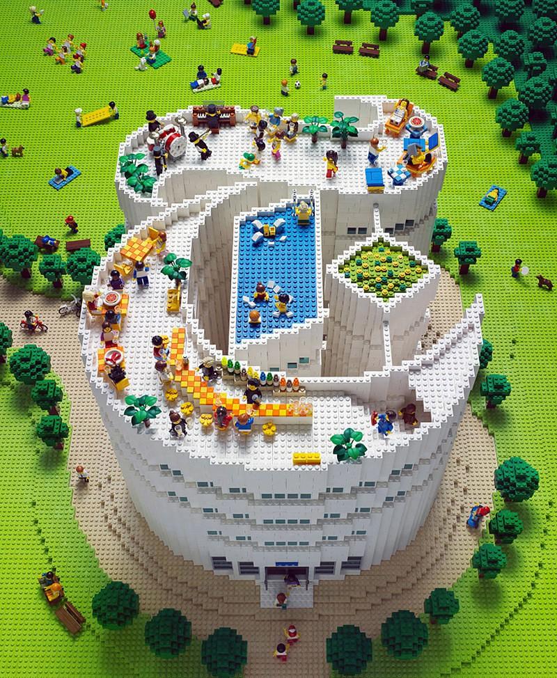 LEGO Times Magazine Logo by Sachiko Akinaga