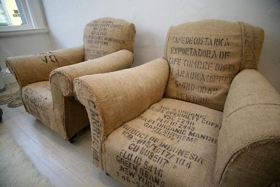 Vintage Coffee Bean Bag Chairs 900x600px