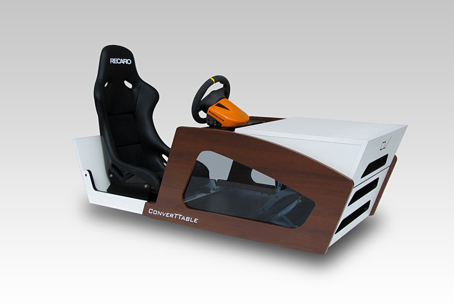 ConverTTable - coffee table turns into a racing cockpit